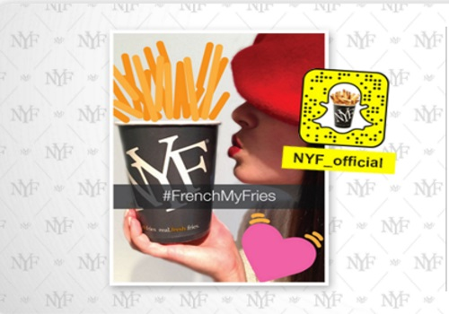 New York Fries Free Fries Snapchat Giveaway