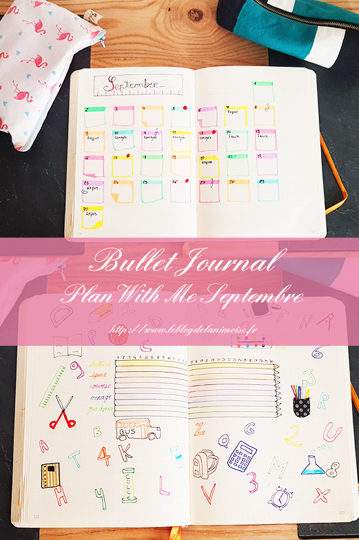 06 Bullet Journal Plan With Me Septembre Blog Nimoise