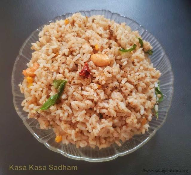 images of Kasa Kasa Sadham Recipe / Khus Khus Rice / Poppy Seeds Rice - Variety Rice Recipe
