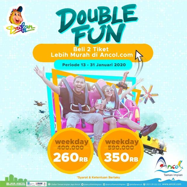 #Ancol - #Promo Tiket Dufan Double FUN Beli 2 Lebih Murah (13 - 31 Jan 2020)