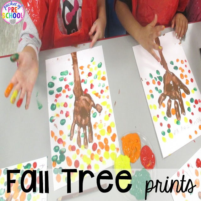 Fall math, literacy, fine motor, art, sensory, and dramatic play activities for your preschool, pre-k, and kindergarten classroom.
