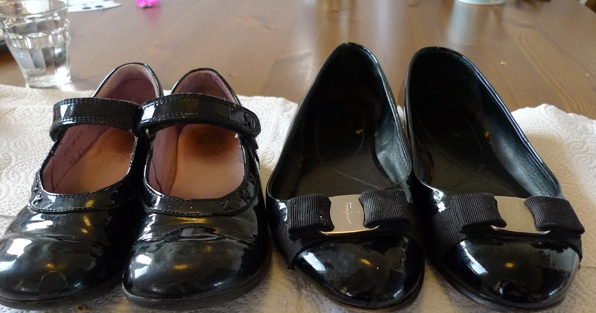 Patent Girl Shoes To Go With Navy Velvet Dress