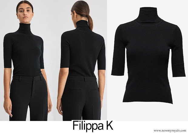 Crown Princess Victoria wore Filippa K merino elbow sleeve top