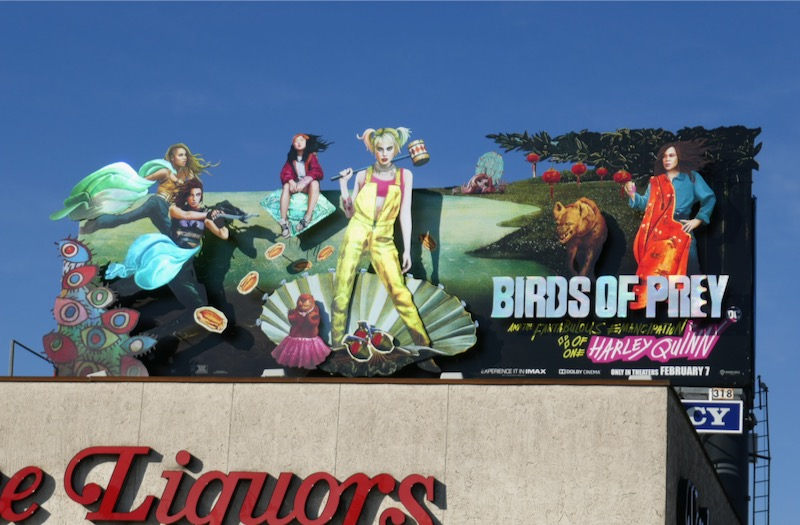 Birds of Prey metallic extension billboard