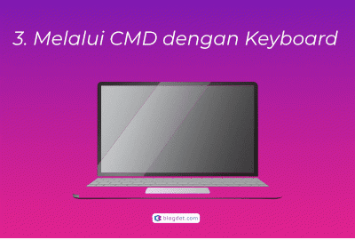 Melalui CMD dengan Keyboard