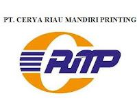 PT. Cerya Riau Mandiri Printing April 2017 : Lowongan Kerja Pekanbaru Terbaru