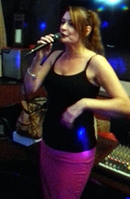 Singer Jo-Jo performing at the Woolpack Hotel in Brigg