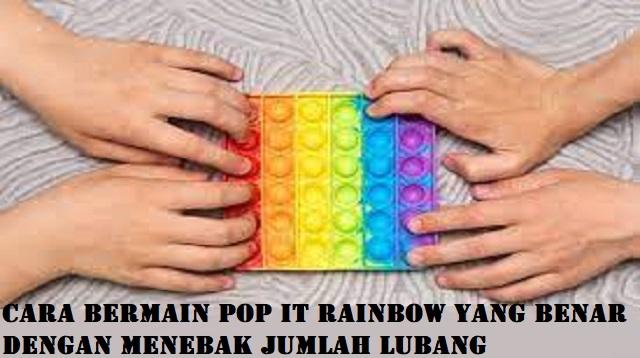 Cara Bermain Pop it Rainbow Yang Benar Dengan Menebak Jumlah Lubang