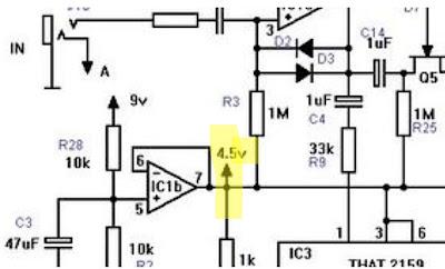 Schaltbild: Spannungsteiler an anderer Stelle - hier 4,5 Volt