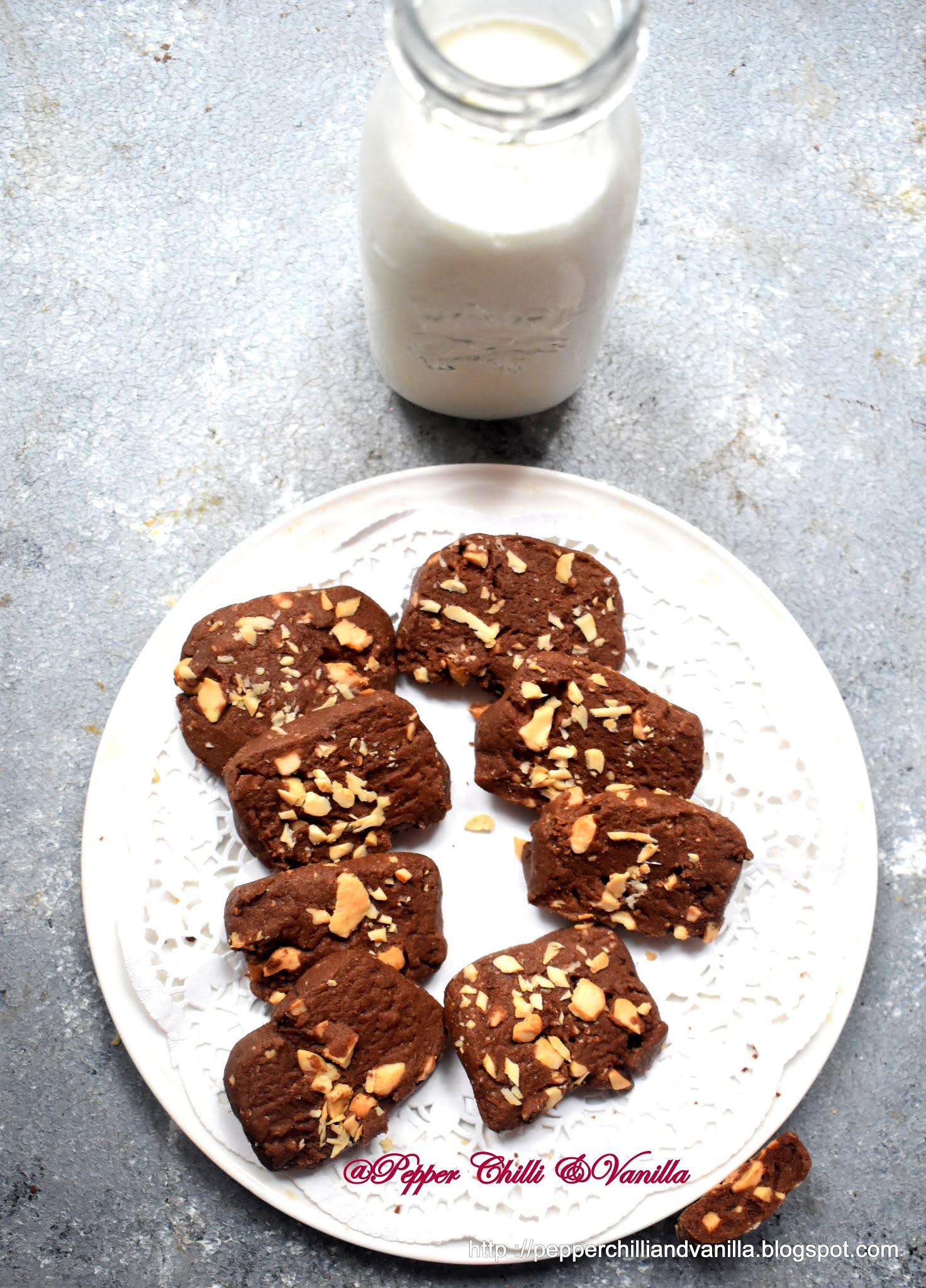 how to make chocolate cashew cookies