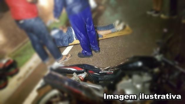 Colisão entre moto e bicicleta deixa um morto e outro ferido na Av. Ataliba Vieira, em Chapadinha.