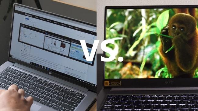 Mi Notebook 14 Horizon vs Acer Swift 3 SF314-57 laptop.