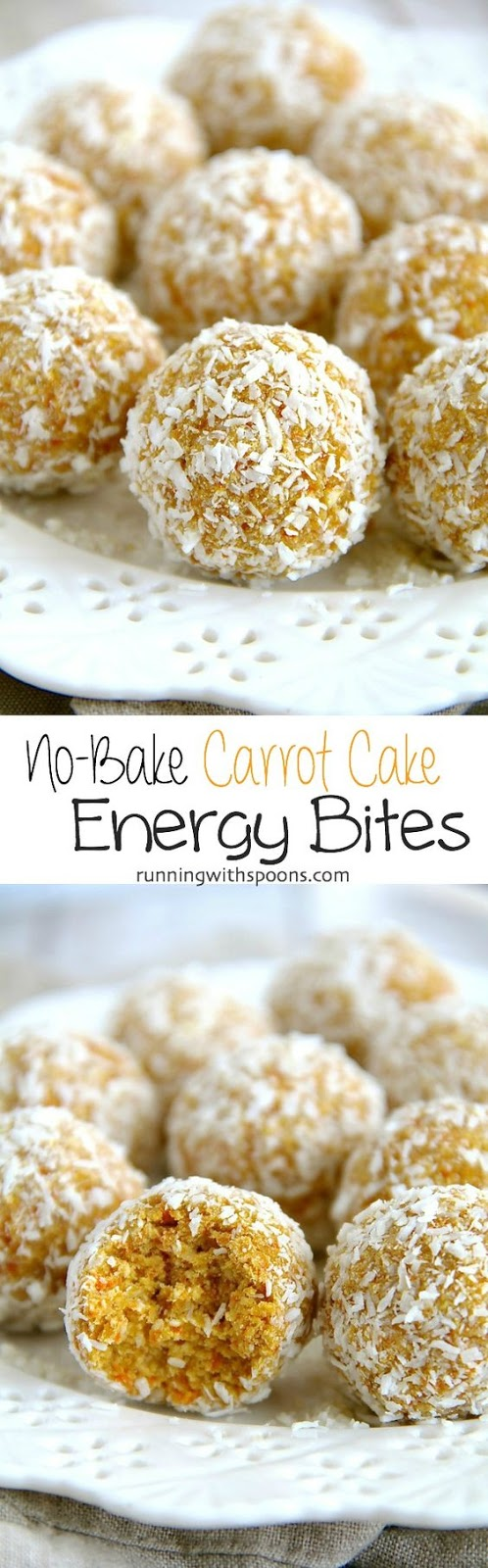 10 minutes and 1 bowl are all you need to whip up these healthy No-Bake Carrot Cake Energy Bites! They're nut-free, gluten-free, and vegan.