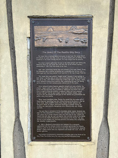 Informational sign describing the history of the Pacific City dory.