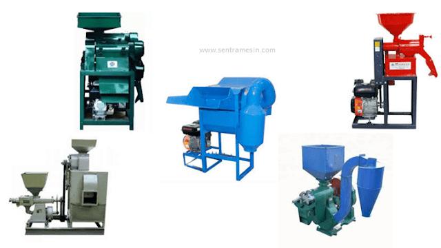 Komponen Komponen yang Dimiliki Mesin Penggiling Padi