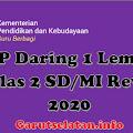RPP Daring 1 Lembar Kelas 2 SD/MI Semester 1 Revisi 2020