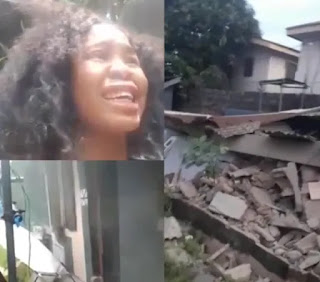 Lady Laments Bitterly After Govt. Demolished Her New Apartment