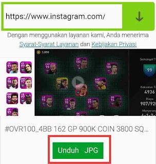 Cara download foto dan video dari ig