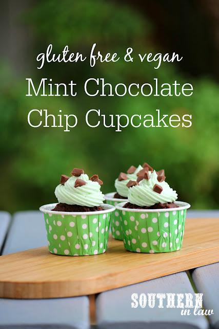 Easy Mint Chocolate Chip Cupcakes Recipe - gluten free, vegan, low  fat, lower sugar, kid friendly, birthday cakes, wheat free, dairy free, egg free