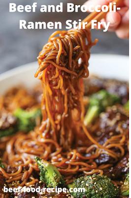 Beef and Broccoli-Ramen Stir Fry