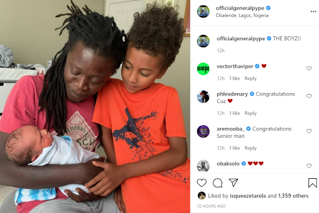 Singer General Pype welcomes his second child (Photos)