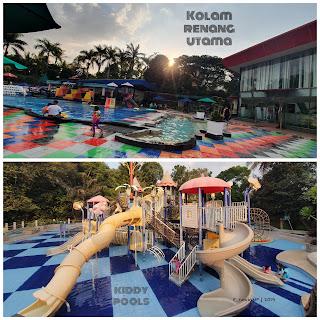 Kolam renang utama dan Kolam renang anak (Kiddy Pools)