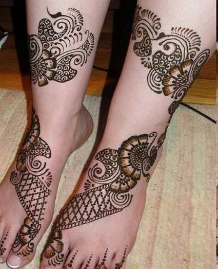 New Style Foot Mehndi Desings