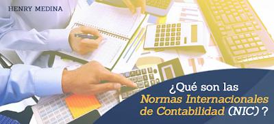 Que son las Normas Internacionales de Contabilidad (NIC)