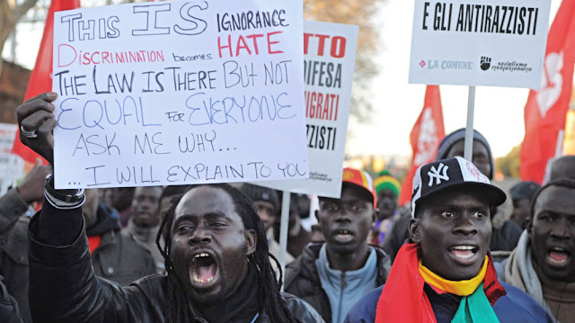 African protesters