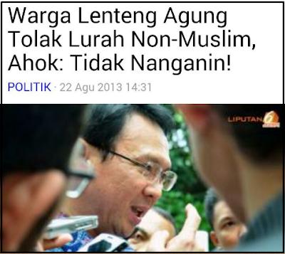 16 Kebijakan Ahok Yang Kontroversial dan Melecehkan Agama Islam - Sagoe Tunong