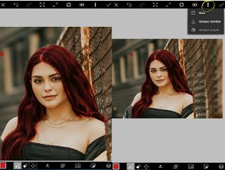 cara edit warna rambut picsart