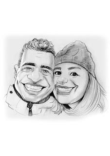 caricatura para presente de casal