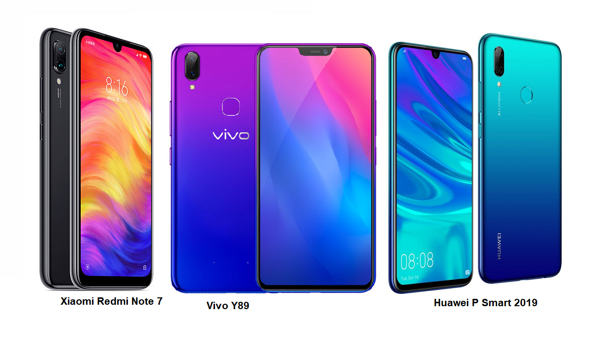 Tspn1 Xiaomi Redmi Note 7 Vs Vivo Y89 Vs Huawei P Smart 2019 Specs