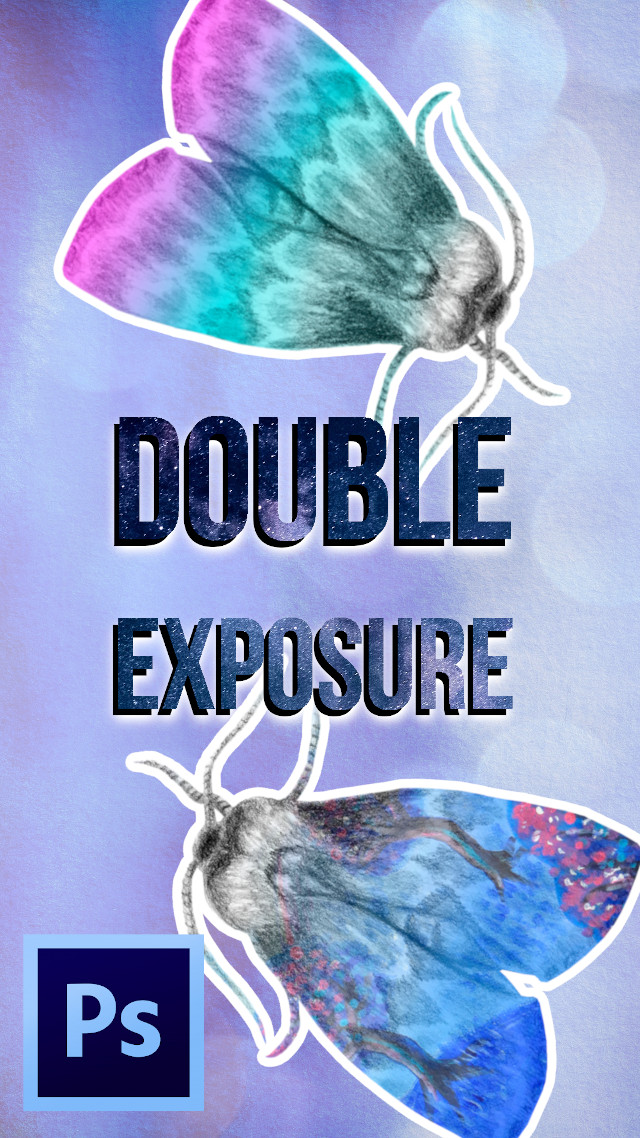 Want to create a double exposure effect for your art, design or photo, where you'll have a silhouette of one image and another image inside it?