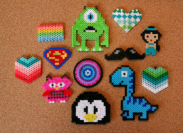 Perler Beads DIY Jewelry Tutorial - learn how to make fun, inexpensive jewelry! Tons of cool patterns.