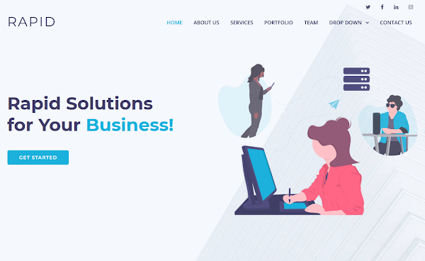 Rapid Landing Page Html5 Template