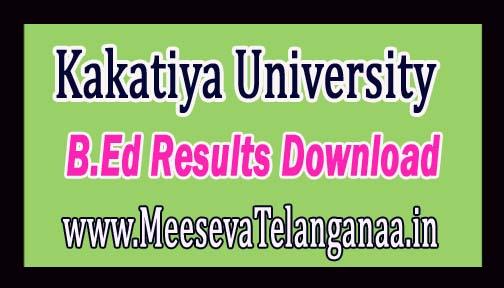 Kakatiya University KU B.Ed 1st Year 2nd Sem Results Oct 2016