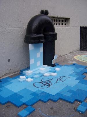 Agua digitalizada instalación en la calle
