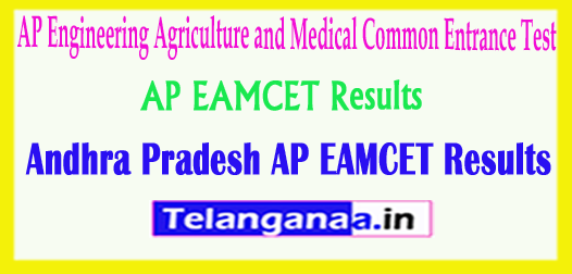 AP EAMCET Results Engineering Agriculture and Medical Common Entrance Test 2018 Results