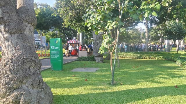 John F. Kennedy park in Miraflores, Lima Peru