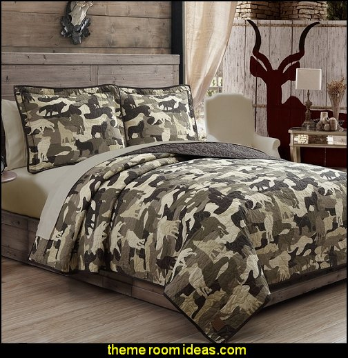 Wolf Camouflage Quilt 3-piece Set by Field & Stream