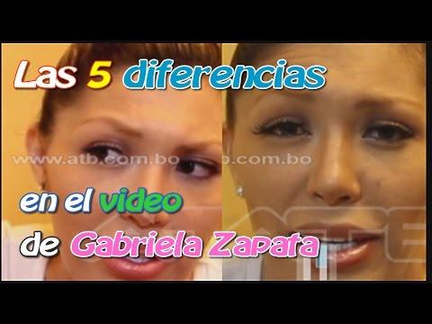 ENCUENTRA LAS 5 DIFERENCIAS EN EL VIDEO DE LA ENTREVISTA A GABRIELA ZAPATA EN ATB