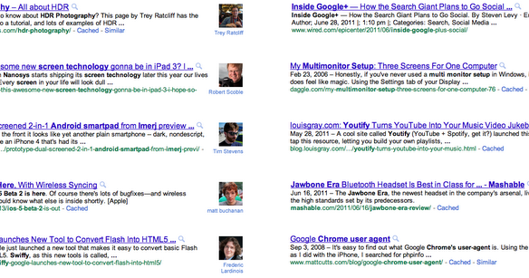 louisgray com: Search Results on Google Now Highlight Content Authors