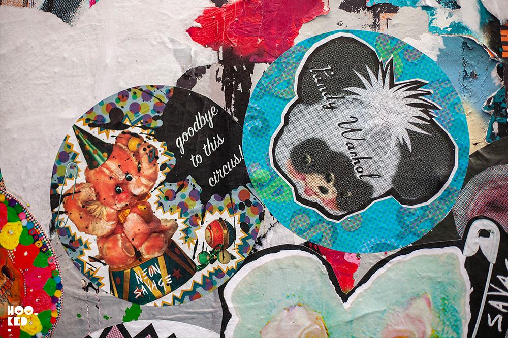 Shoreditch Street Art Stickers featuring artist Neon Savage