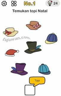 Temukan topi natal bantu sinterklas