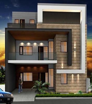 exterior wall design modern house front facade design ideas 2019%2B%252852%2529 - View Small Home Front Wall Design  Images