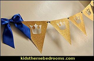 Royal Prince Baby Shower Bunting Banner. King Crown Garland