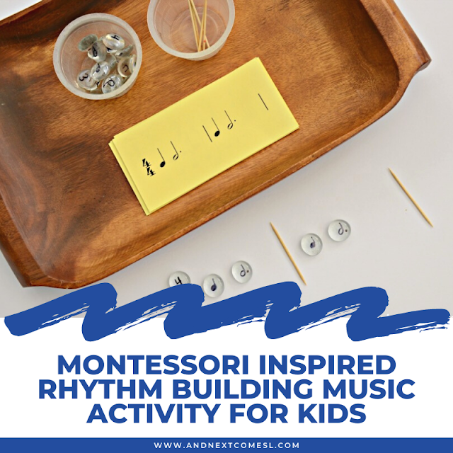 Montessori inspired rhythm building music activity for kids