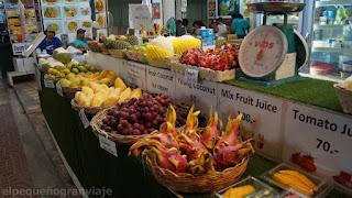 Precio Frutas, tailandia, presupuesto, gasto, resumen, ko phi phi