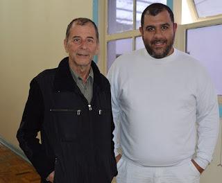 Secretário de Turismo Elias Martins e Sydney Mandarino, do Clube Amigos do Antigo, dão andamento à organização da tradicional Exposição de Automóveis Antigos de Teresópolis